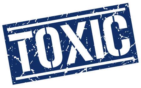 toxic square grunge stamp