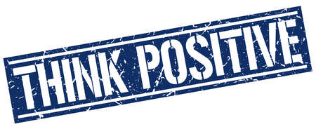 think positive: think positive square grunge stamp