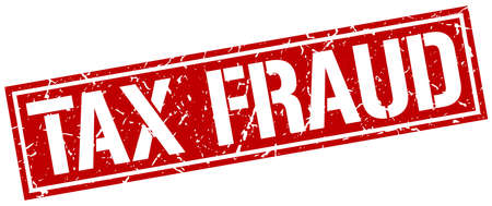 fraud: tax fraud square grunge stamp