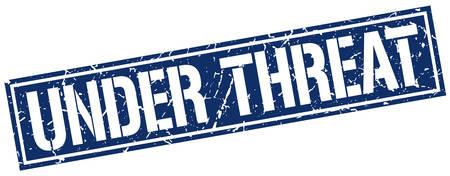 threat: under threat square grunge stamp