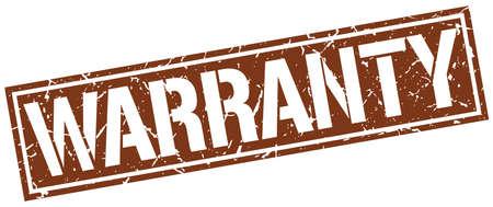 warranty: warranty square grunge stamp