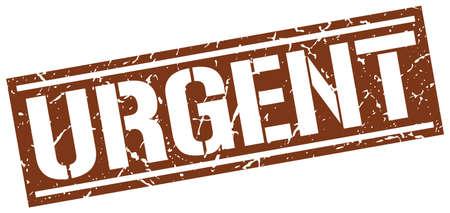 urgent: urgent square grunge stamp