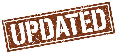 updated: updated square grunge stamp Illustration