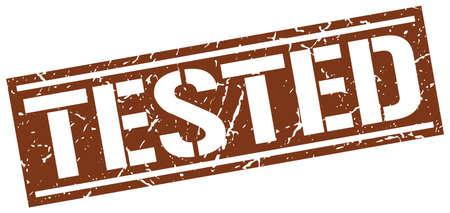 tested: tested square grunge stamp Illustration