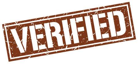 verified: verified square grunge stamp Illustration