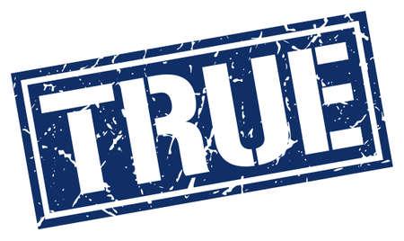 true: true square grunge stamp