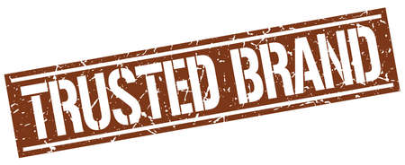 trusted: trusted brand square grunge stamp