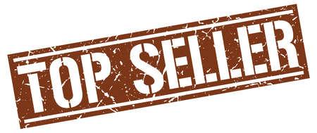 seller: top seller square grunge stamp