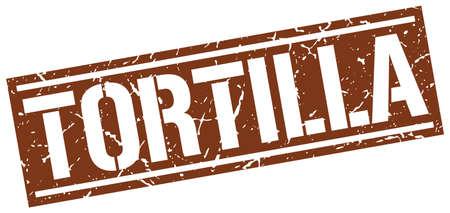 tortilla: tortilla square grunge stamp