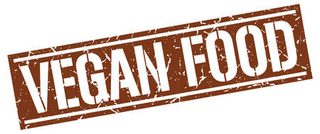 vegan food: vegan food square grunge stamp
