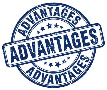 advantages: advantages blue grunge stamp