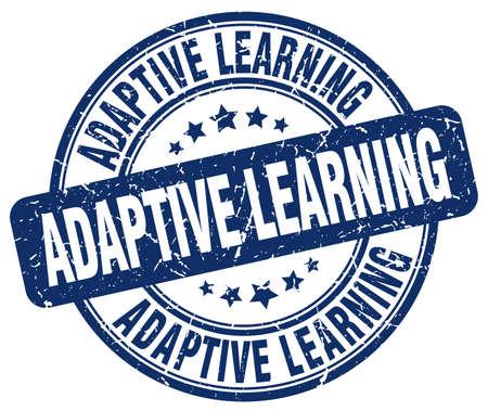 adaptive learning blue grunge stamp