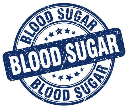 blood sugar: blood sugar blue grunge stamp Illustration