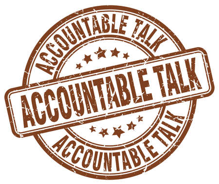 accountable: accountable talk brown grunge stamp