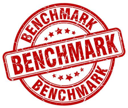 benchmark: benchmark red grunge stamp Illustration