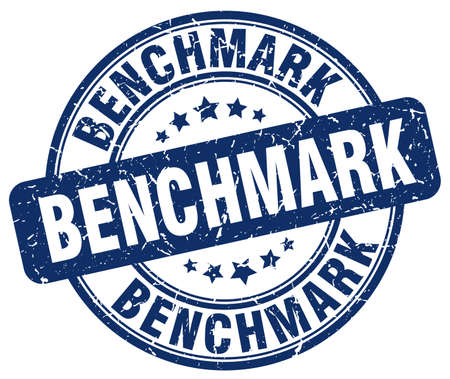Benchmark-blau Grunge-Stempel Vektorgrafik