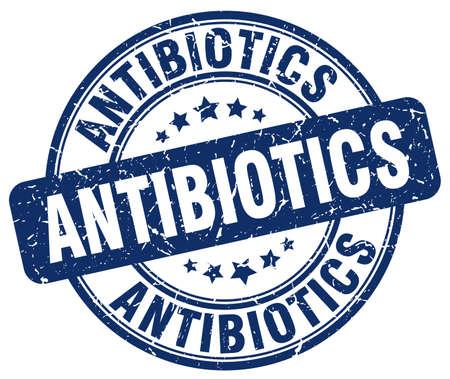 antibiotics: antibiotics blue grunge stamp Illustration