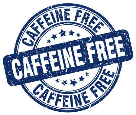 caffeine free: caffeine free blue grunge stamp Illustration