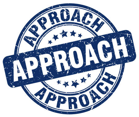 an approach: approach blue grunge stamp Illustration