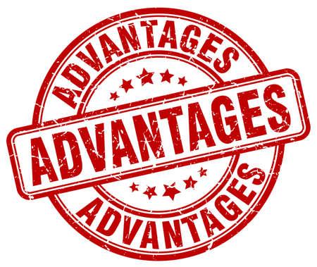 advantages: advantages red grunge stamp
