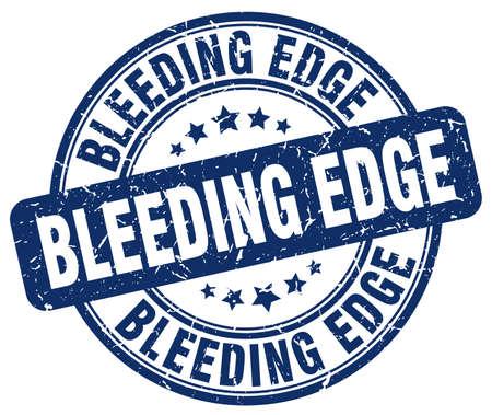 edge: bleeding edge blue grunge stamp