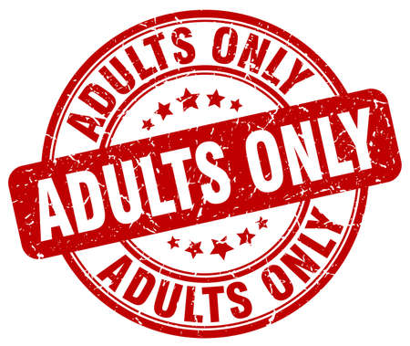 adults: adults only red grunge stamp