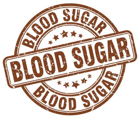 blood sugar: blood sugar brown grunge stamp