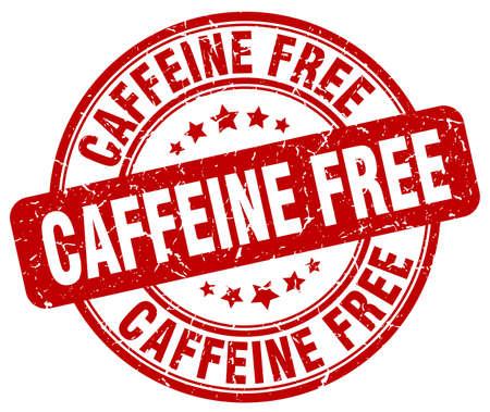 caffeine free: caffeine free red grunge stamp