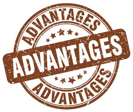 advantages: advantages brown grunge stamp