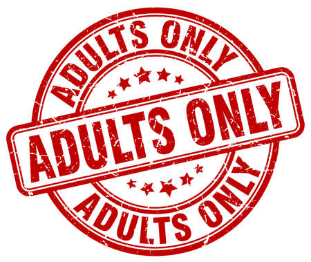 adult only: adults only red grunge stamp