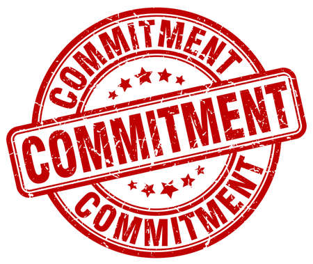 commitments: commitment red grunge stamp Illustration