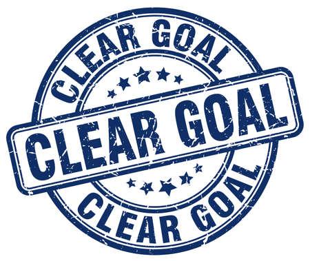 clear: clear goal blue grunge stamp