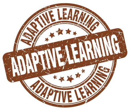 adaptive learning brown grunge stamp Illustration