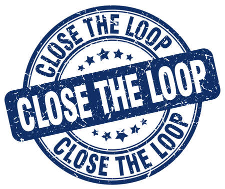 the loop: cerrar el sello del grunge azul bucle Vectores