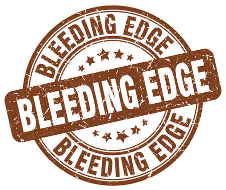 edge: bleeding edge brown grunge stamp