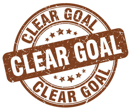 clear: clear goal brown grunge stamp