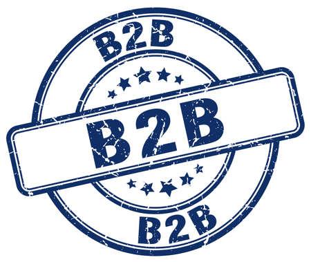 b2b: b2b blue grunge stamp