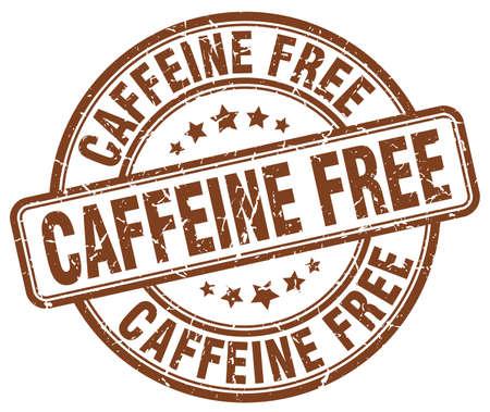 caffeine free: caffeine free brown grunge stamp
