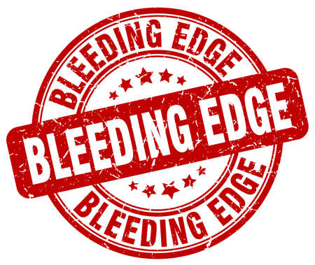 edge: bleeding edge red grunge stamp Illustration