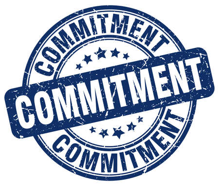 commitments: commitment blue grunge stamp Illustration