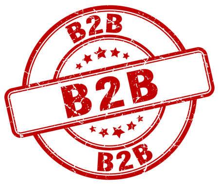 b2b: b2b red grunge stamp Illustration