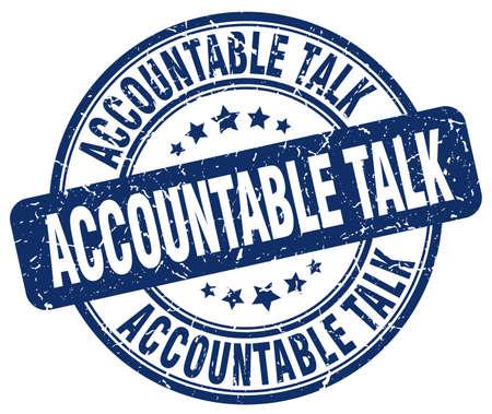 accountable: accountable talk blue grunge stamp