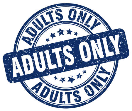 adults: adults only blue grunge stamp Illustration