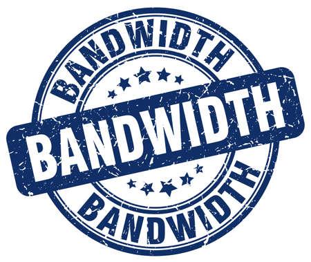 bandwidth: bandwidth blue grunge stamp Illustration