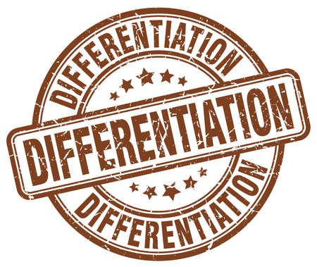 differentiation: differentiation brown grunge stamp Illustration