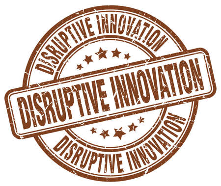 disruptive: disruptive innovation brown grunge stamp