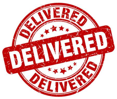 delivered: delivered red grunge stamp