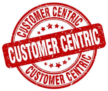 centric: customer centric red grunge stamp
