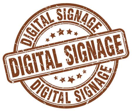 digital signage brown grunge stamp
