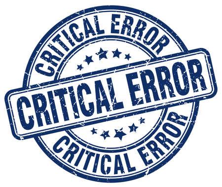 critical: critical error blue grunge stamp